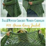 Fall & Winter Women Cardigan Free Crochet Patterns - Howtomakes