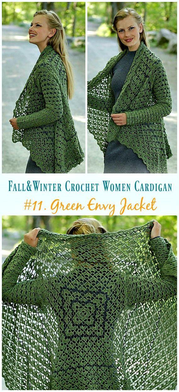 Fall & Winter Women Cardigan Free Crochet Patterns – Howtomakes