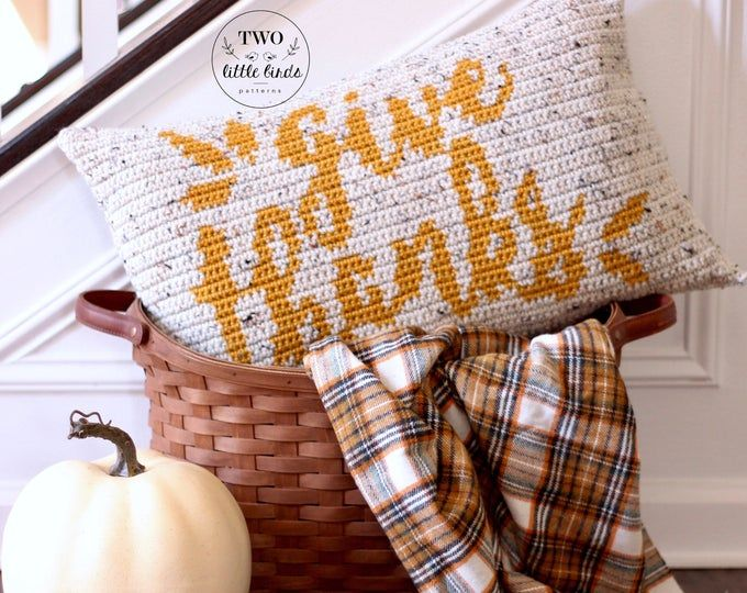 Fall crochet pillow pattern, crochet pillow cover, crochet pumpkin pillow tutorial, autumn home decor, rustic fall decor, HELLO FALL PILLOW