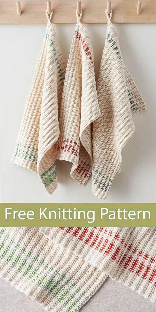 Farmhouse Dishtowels – Free Knitting Pattern