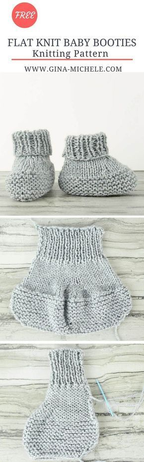 Flat Knit Baby Booties Free Knitting Pattern