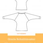 Fledermaus-Shirt kostenloses Schnittmuster