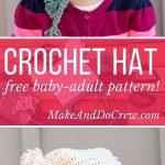"Free Beginner Crochet Beanie Hat Pattern ""Pom Pom Party"""