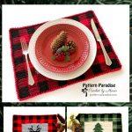 Free Crochet Pattern: Buffalo Plaid Placemat