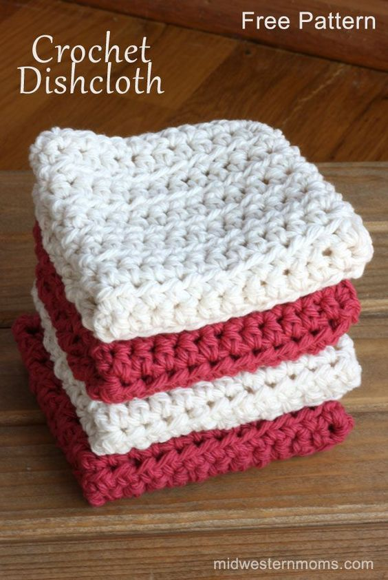 Free Half Double Crochet Dishcloth Pattern