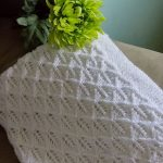Free Knitting Pattern for Angelic Feathers Baby Blanket