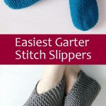 Free Knitting Pattern for Easiest Garter Stitch Slippers - Easy-to-knit weekend ...