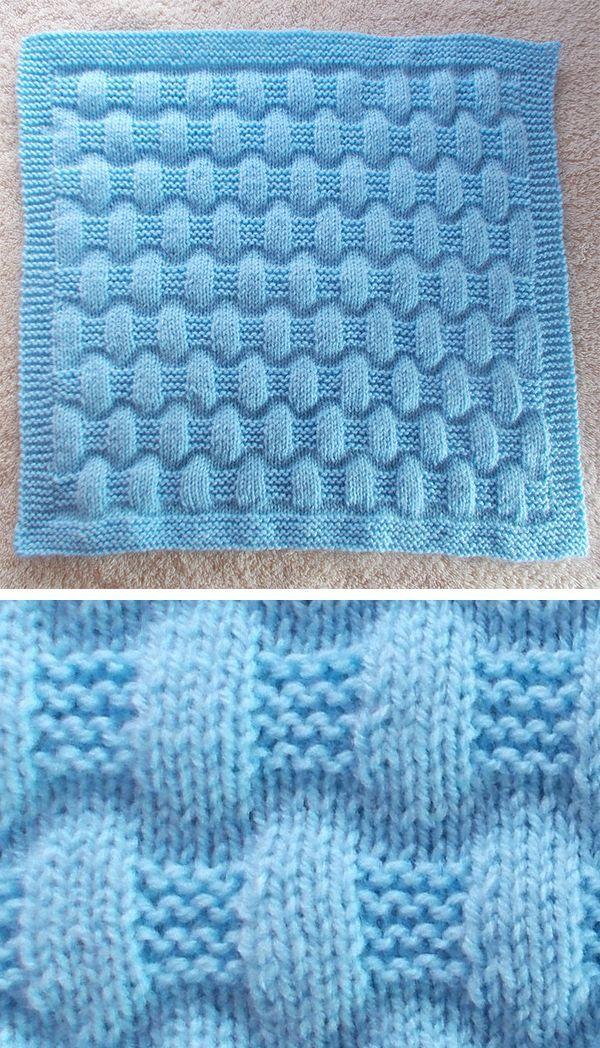 Free Knitting Pattern for Easy Jordan Baby Blanket – This easy blanket is knit w… – Best Knitting Pattern