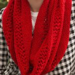 Free Knitting Pattern for Easy Lace and Garter Stitch Infinity Scarf - This easy...