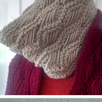Free Knitting Pattern for Lattice Cowl - Ridges of alternating Indian Basketweav...