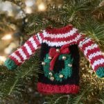 Free Knitting Pattern for Tiny Ugly Christmas Sweater Ornaments