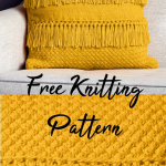 Free Knitting Pattern for a Texture and Fringe Pillow. :  Free Knitting Pattern ...