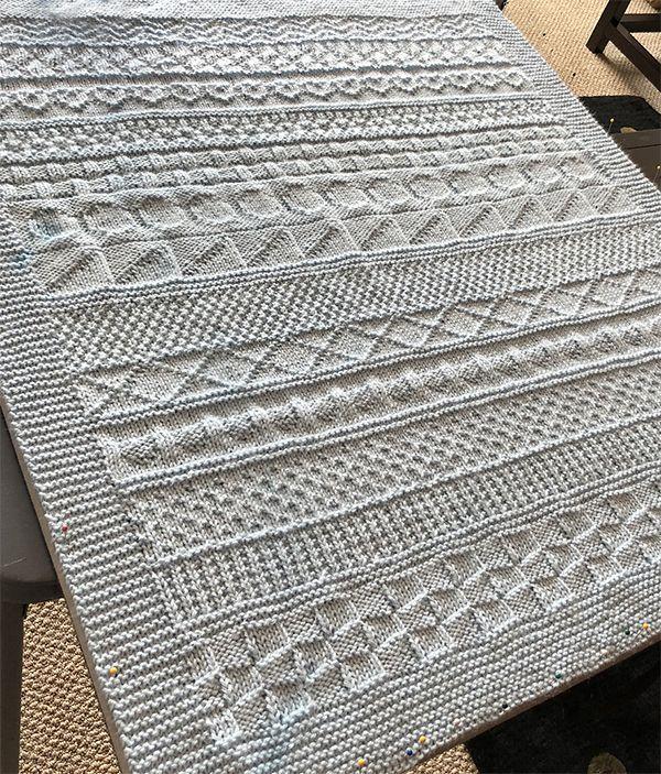 Free Knitting Pattern für Easy Knit and Purl Babydecke – Easy Babydecke in …