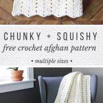 Free Modern + Chunky Crochet Blanket Pattern - Beginner-Friendly