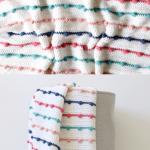 Free Pattern - Crochet Bobble Lines Baby Blanket