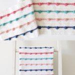 Free Pattern - Crochet Bobble Lines Baby Blanket #crochet #crochetpattern #freec...