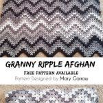 [Free Pattern] Crochet Granny Ripple Afghan!