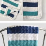 Free Pattern - Crochet Nautical Baby Blanket