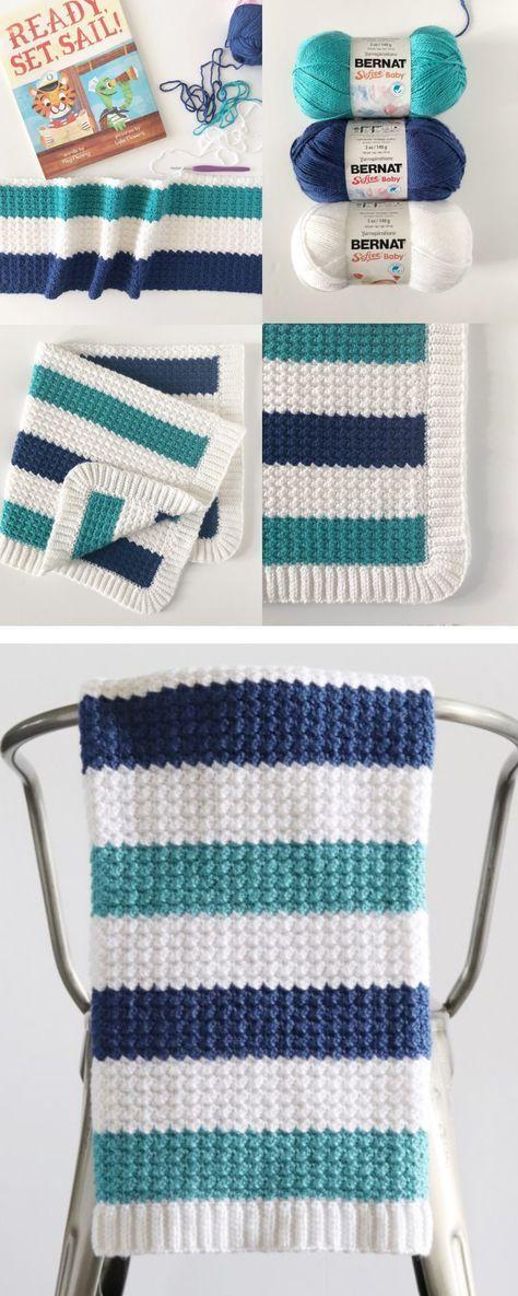 Free Pattern – Crochet Nautical Baby Blanket