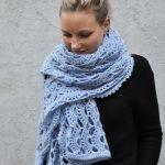 Free Pattern: Crochet a lace scarf