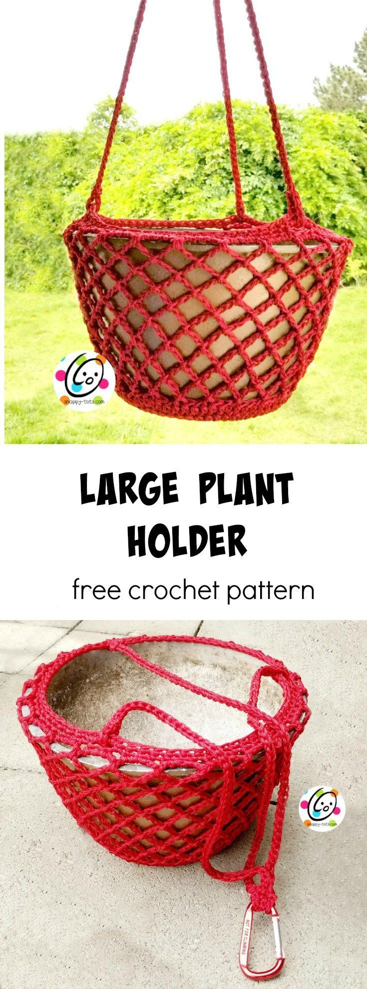 Free Pattern: Large Plant Holder