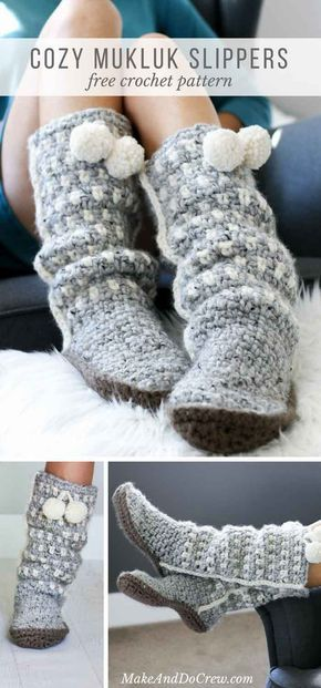 Free Pattern: Slouchy Slippers – the perfect crochet gift!
