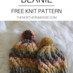 Free beanie knit pattern. Spiral beanie, knit hat. Chunky knitting pattern.