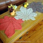 Free pattern: Chestnut Leaf Table Runner and Placemats ✿•Teresa Restegui www...