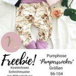"Freebie ""Pampersrocker"" Kostenloses Schnittmuster Baby Pumphose - DIY Nähanleit..."