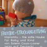 Freebie Strickanleitung, Impromtu Haube für Baby und Kind, deutsche Übersetzun...