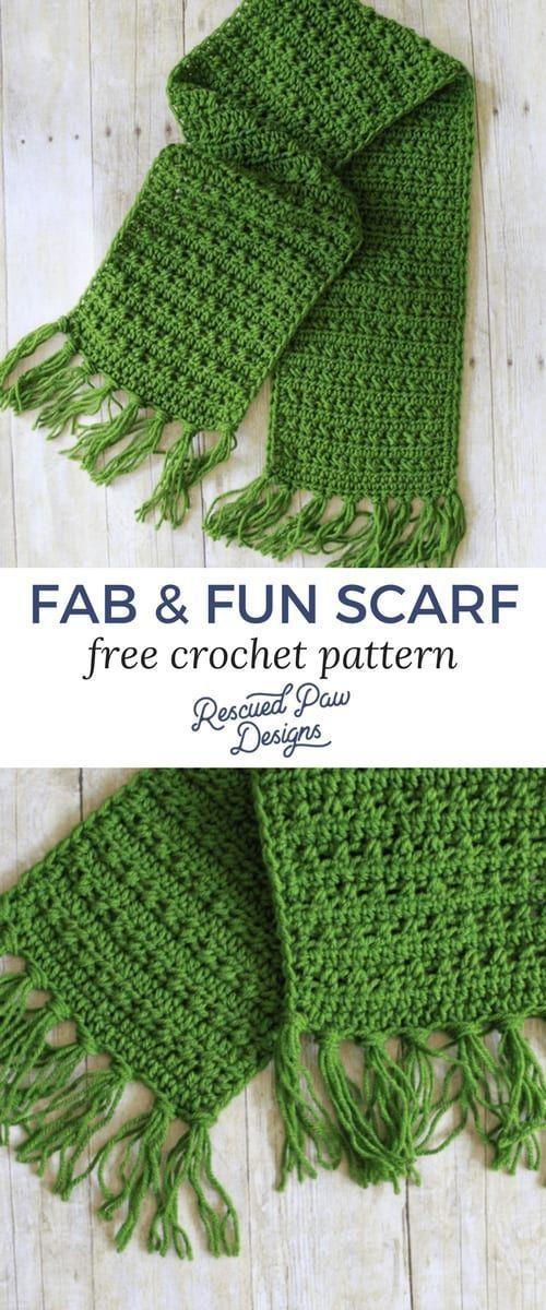Fringe Scarf Crochet Pattern for Fall