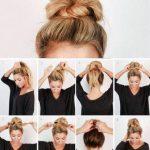 Frisuren für die Schule Schritt für Schritt Brötchen Easy Hair 51+ Ideen - #B...