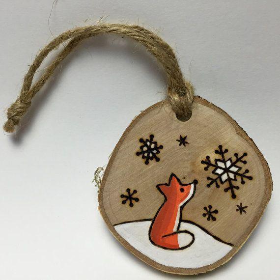 Fuchs-Christbaumkugel handgefertigtes Holz von Timmythewoodman …  #christbaumk…