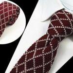 GUSLESON Brand New Fashion Herren Strick Krawatten Herren Strick Krawatte Slim Designer Crava...