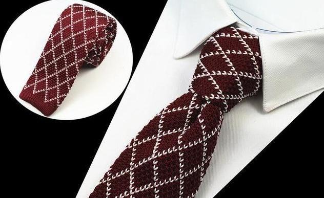GUSLESON Brand New Fashion Herren Strick Krawatten Herren Strick Krawatte Slim Designer Crava…