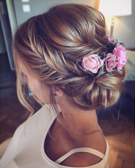 Geflochtene Frisuren mit Blumen sind wunderschön für Bräute auf Hochzeiten – …
