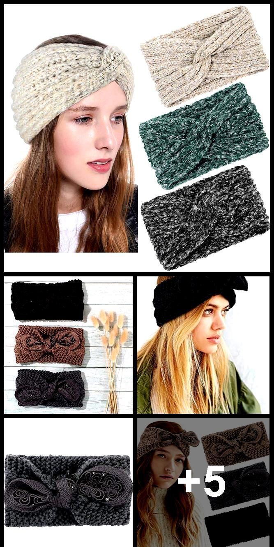 Gestrickte Stirnbänder Winter warme Ohrenwärmer Chunky Twist Crochet Head Wraps ,  #Chunky #c…