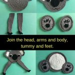 Get this free crochet pattern of a crochet koala.