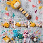 Giraffe Rassel häkeln Rassel Baby Rassel Spielzeug Baumwolle häkeln Spielzeug Baby Bio Beißring Baby Shower Geschenk Baby Kinderkrankheiten Spielzeug Neugeborene Geschenk