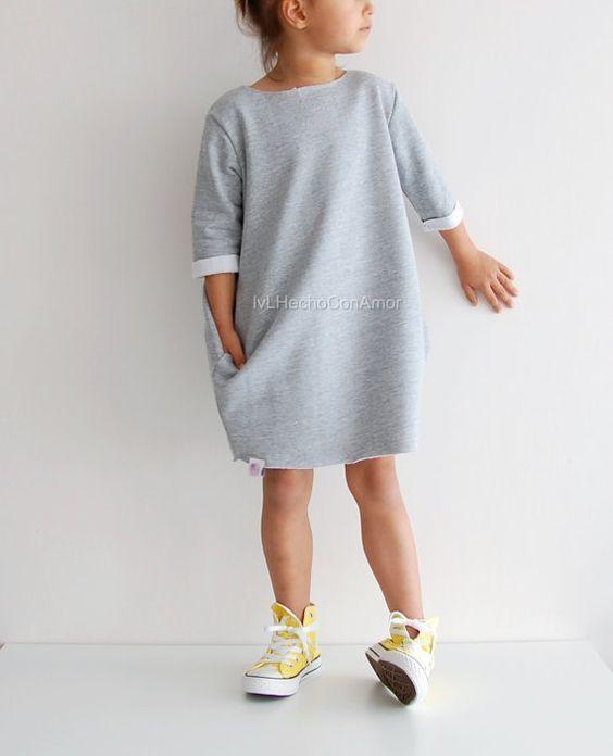 Girls sweater dress pattern, oversized sweater pattern, girls dress pattern, girls sweatshirt pattern, girls long sleeve dress pattern