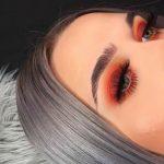 Glühen Sie Make-up orange Augen Make-up Matt-Look Orange Vibe Mädchen Make-up ...