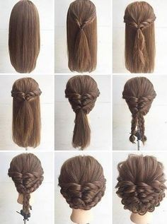 Good Free Quick and easy updos for long, thick hair  Concepts  Each hairstyle ha…