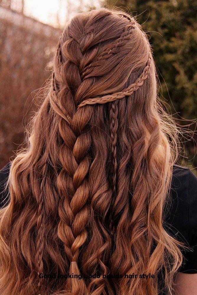 Good looking braid ideas #hairs #updobraid