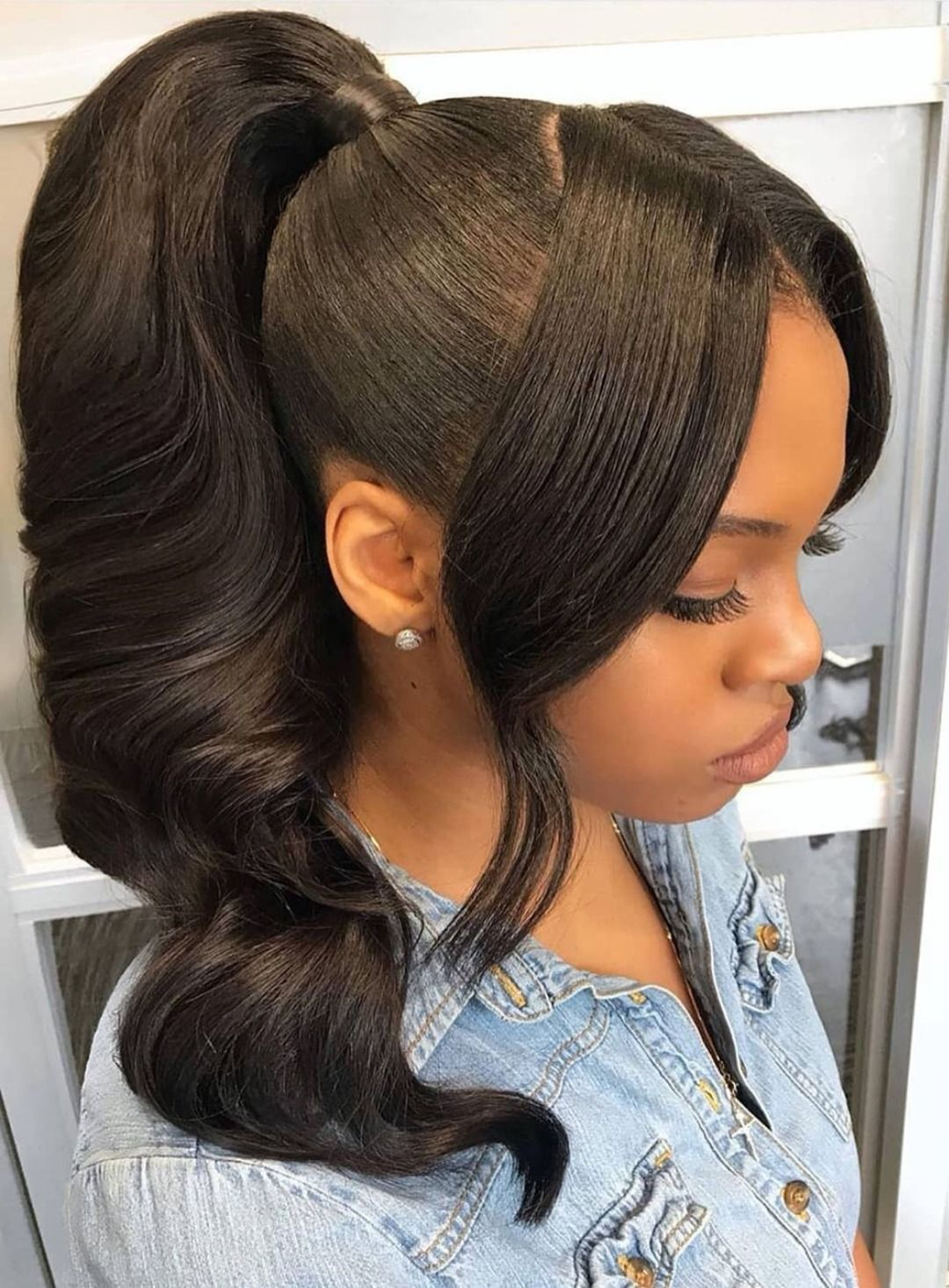 Gorgeous high ponytail 🔥😍who wanna rock it?🤗