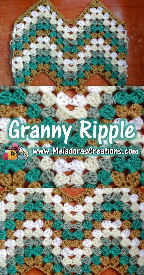 Granny Ripple Crochet Stitch – Free Crochet Pattern and Tutorial