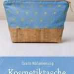 Gratis Nähanleitung - Kosmetiktasche aus zwei verschiedenen Außen-Materialien,...