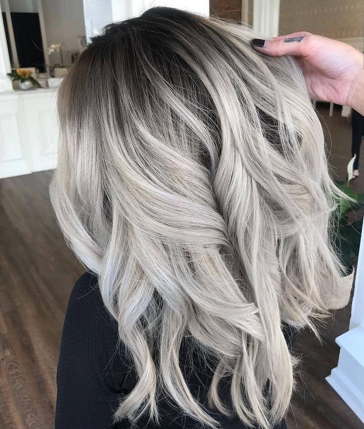 Graue Haarfarbe des Schattenschattenschattens   – Haare – #des #Graue #haare #Ha…
