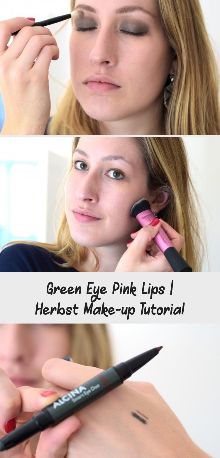 Green Eye Pink Lips   Herbst Make-up Tutorial