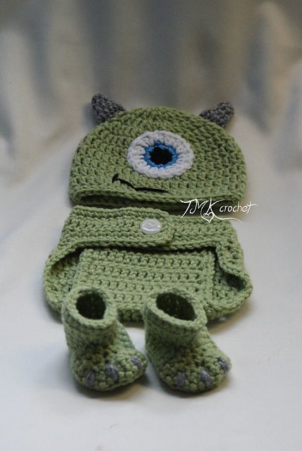 Green Monster Photo Prop Set pattern by Jennifer Lynas