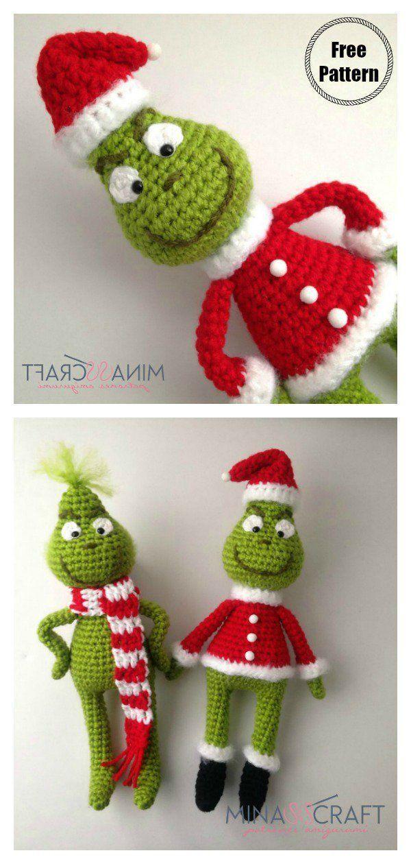 Grinch Amigurumi Free Crochet Pattern #freecrochetpattern  #crochetamigurumi  #grinch  #christmasgif